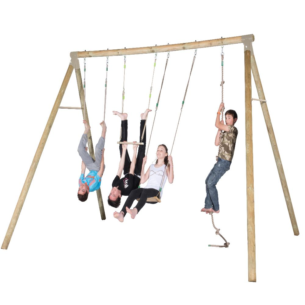 portique en bois adulte un jeu d 39 anneaux m tal une. Black Bedroom Furniture Sets. Home Design Ideas
