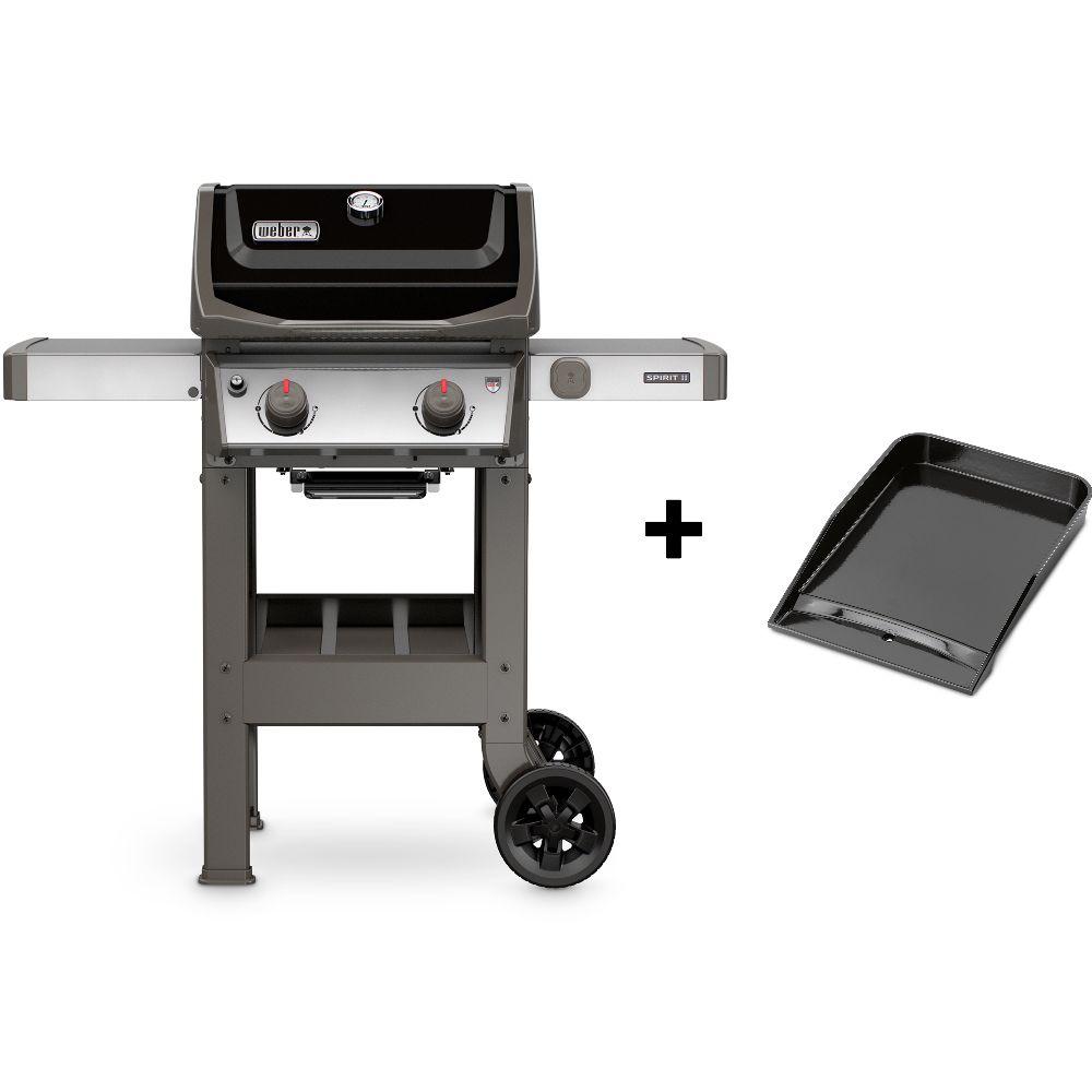 Barbecue Gaz Et Plancha barbecue gaz weber spirit ii e210 noir + plancha