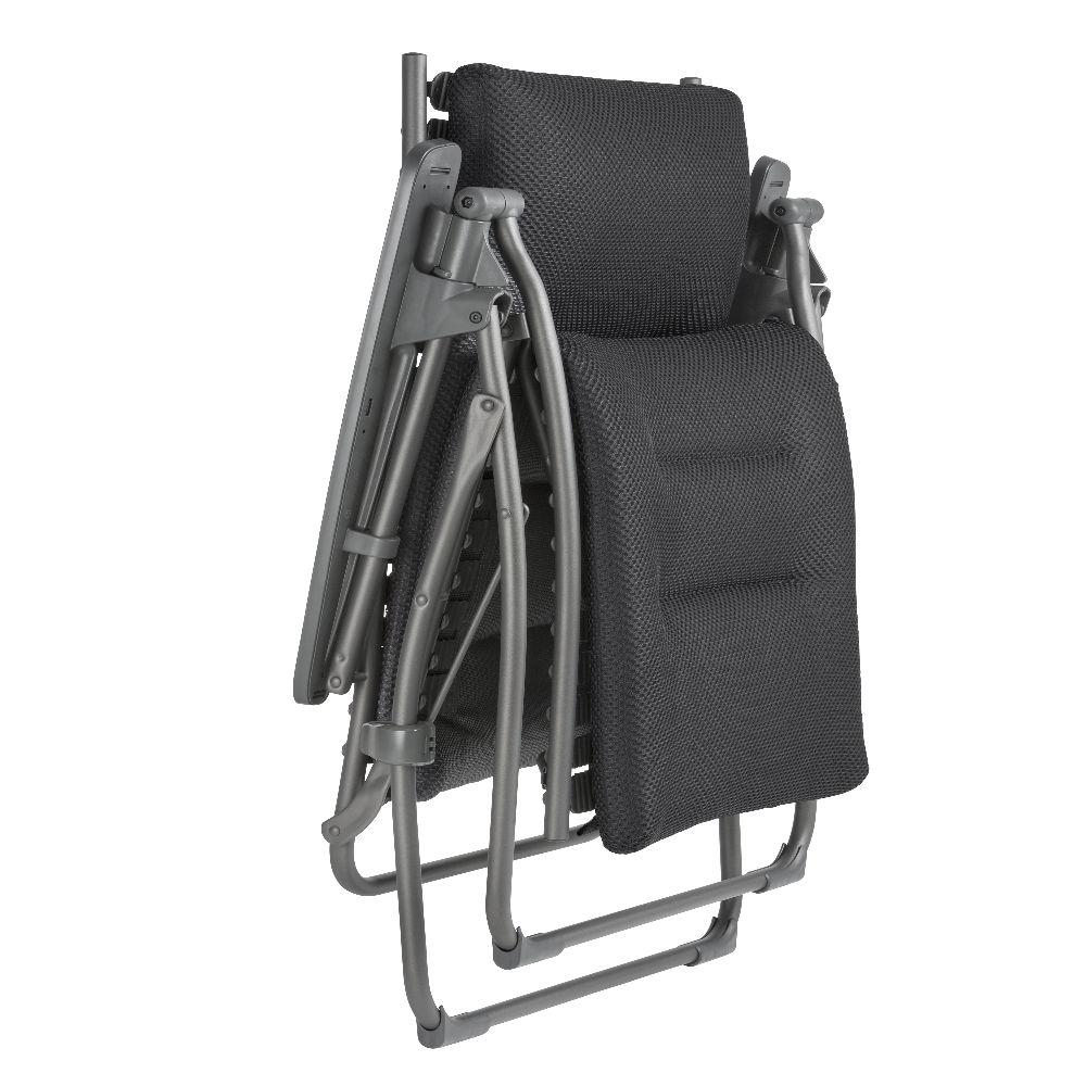 fauteuil relax lafuma evolution be comfort dark grey. Black Bedroom Furniture Sets. Home Design Ideas