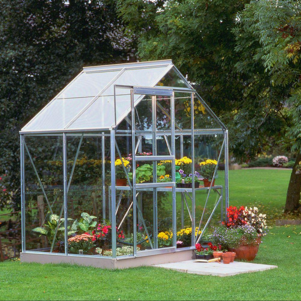 Serre en verre horticole Popular aluminium 2.50 m² + embase - Halls