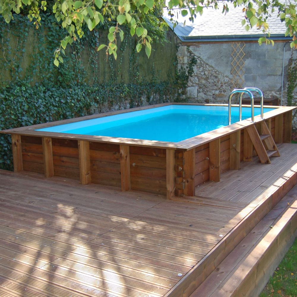 Piscine En Bois Alsace piscine en bois traité lagos l 4.27 x l 2.72 m - sunbay