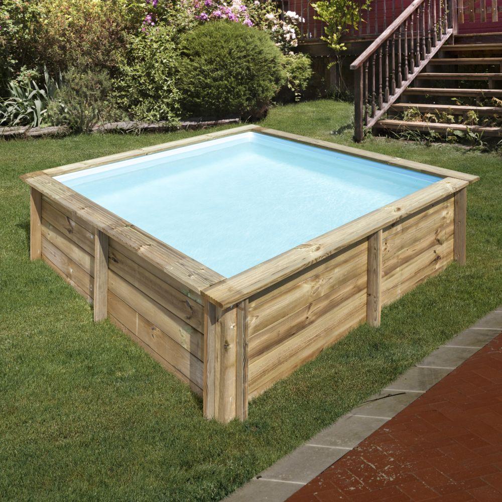 Piscine En Bois Petite Taille piscine en bois traité city l 2 x l 2 m