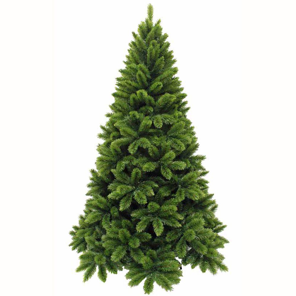 Sapin de Noël artificiel vert TSUGA   H215XD137CM Hauteur monté