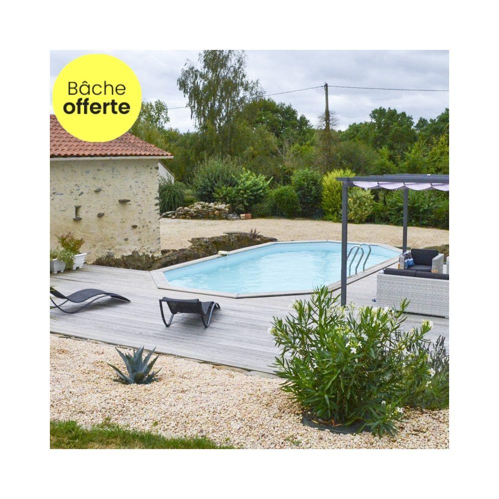 Piscine En Bois Alsace piscine en bois traité lareto l 5.34 x l 3.34 m - sunbay