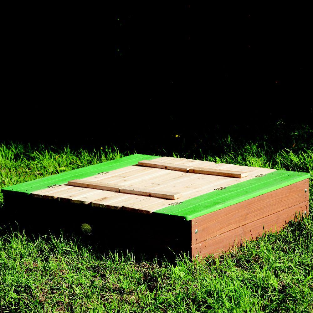 Bac à sable XL en bois avec bancs Ella