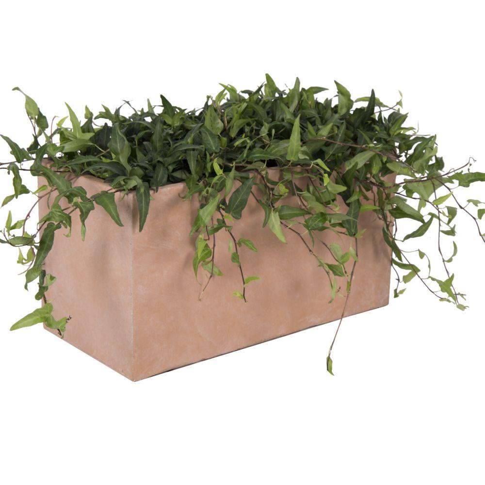 Bac à Fleurs en fibre de terre terracotta L60 H30 cm