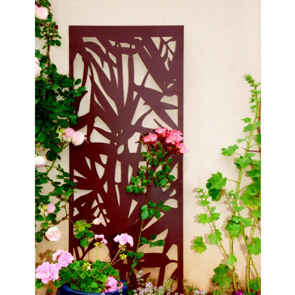 Panneau décoratif NORTENE en métal brun effet vieilli