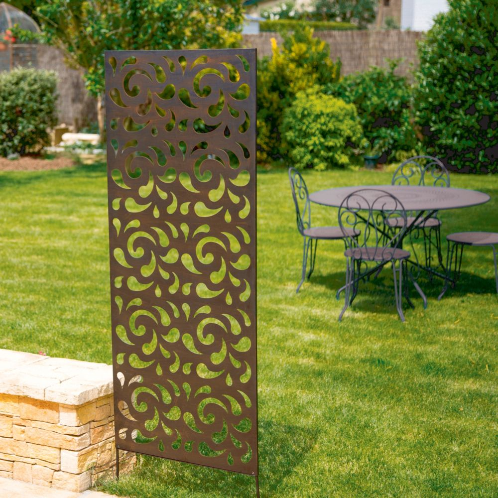 Panneau décoratif NORTENE en métal brun