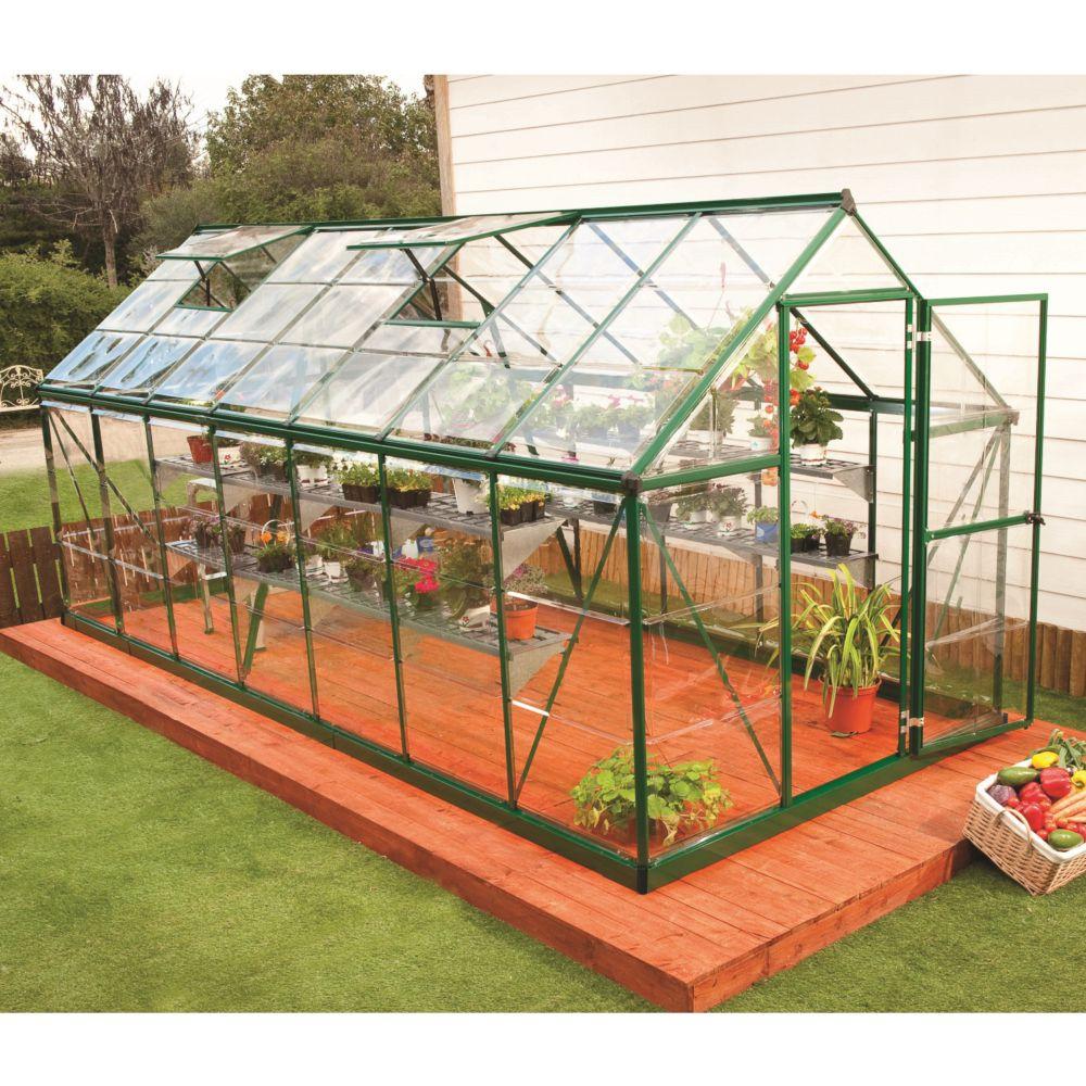 Serre polycarbonate Harmony vert 7.9 m² - Palram