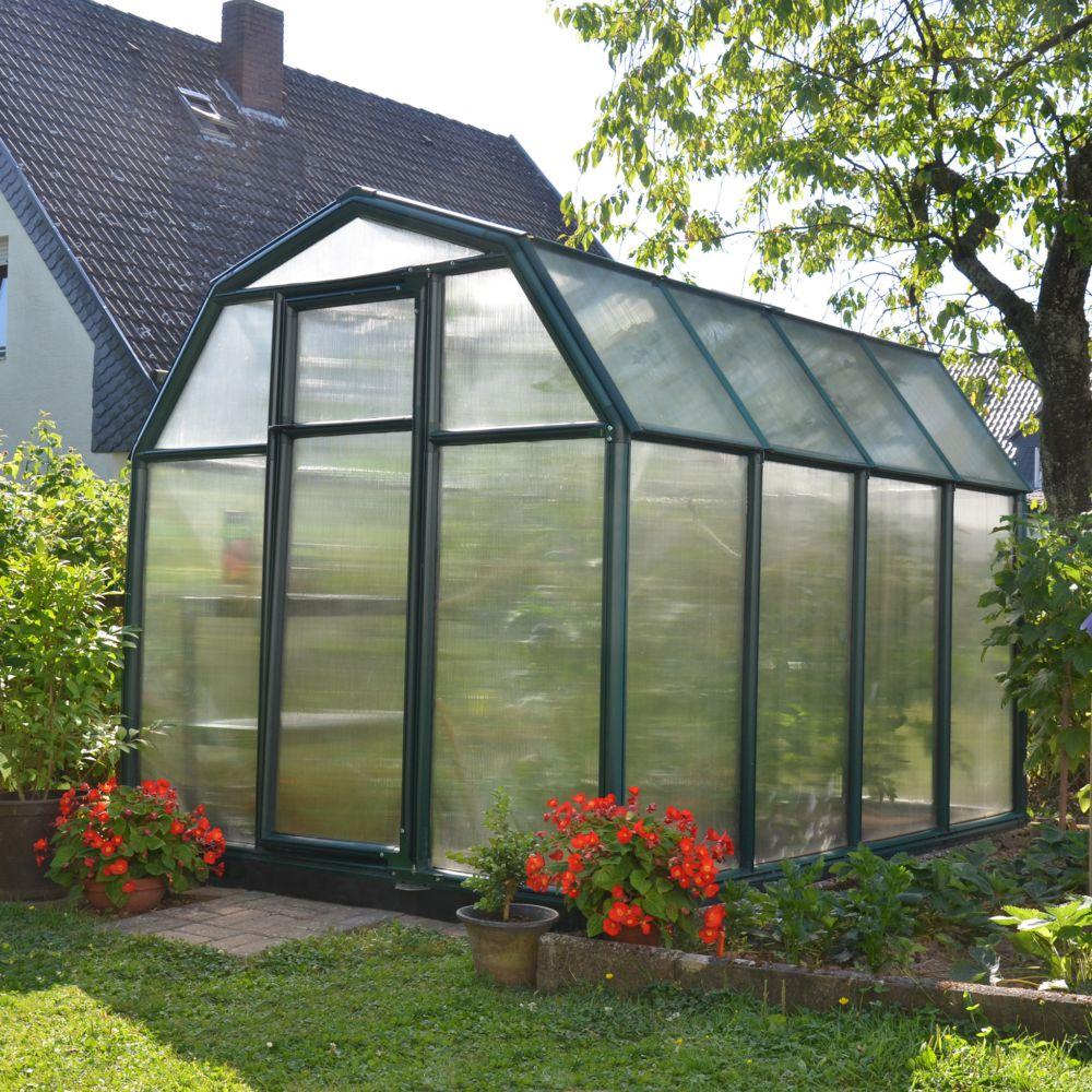 Serre polycarbonate Eco Grow 5.10 m² vert + embase - Palram