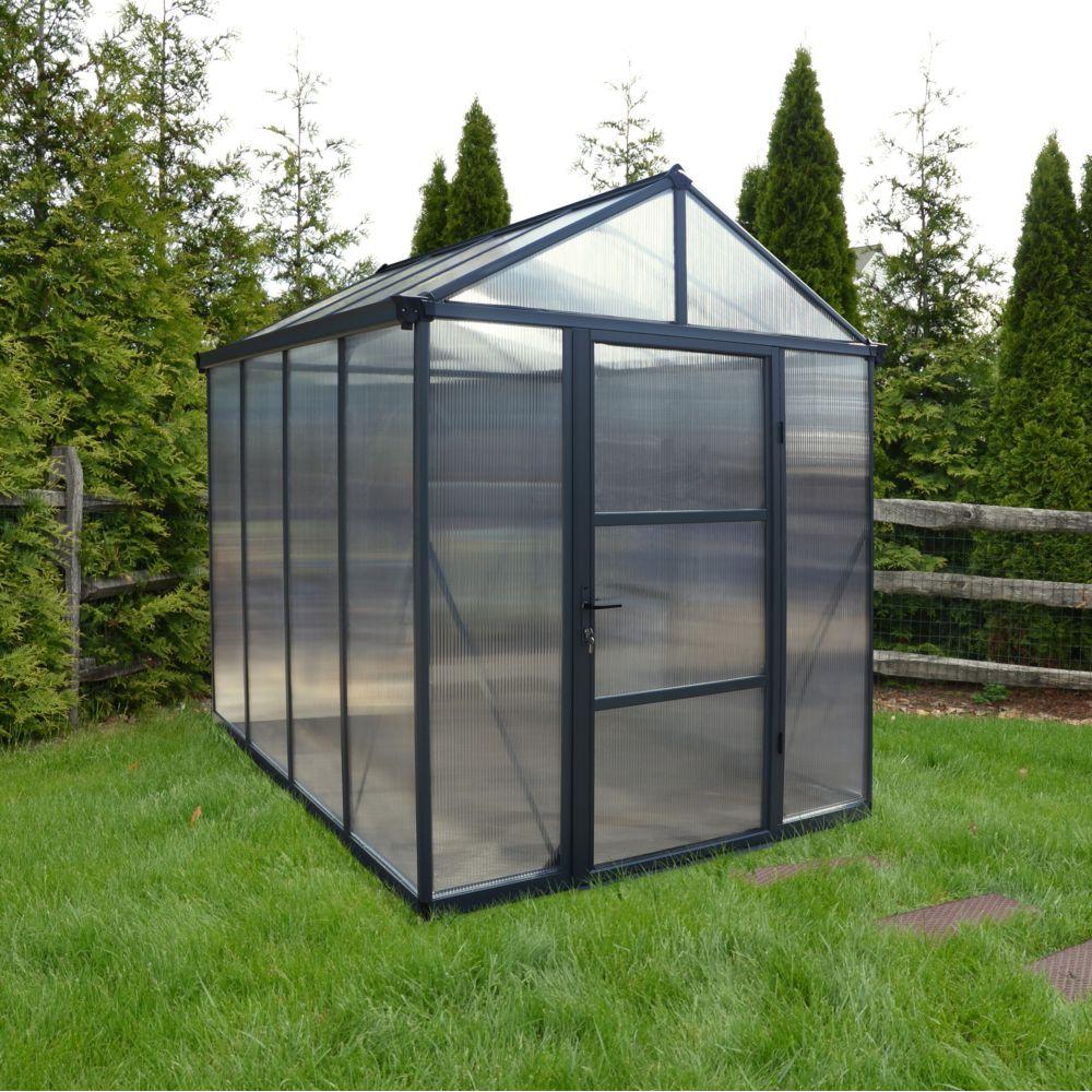 Serre polycarbonate Glory gris anthracite 4.50 m² - Palram