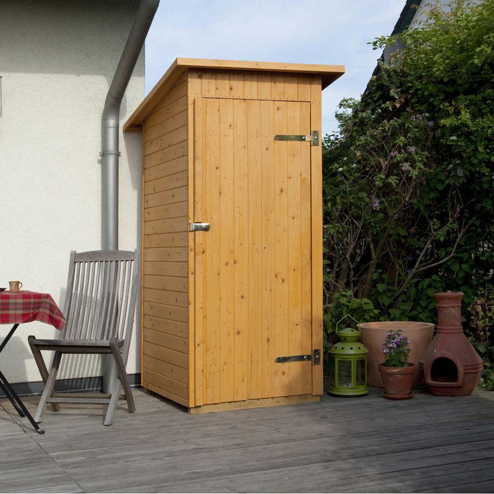 Armoire de jardin bois adossée Weka avec plancher L.83 l.85 cm