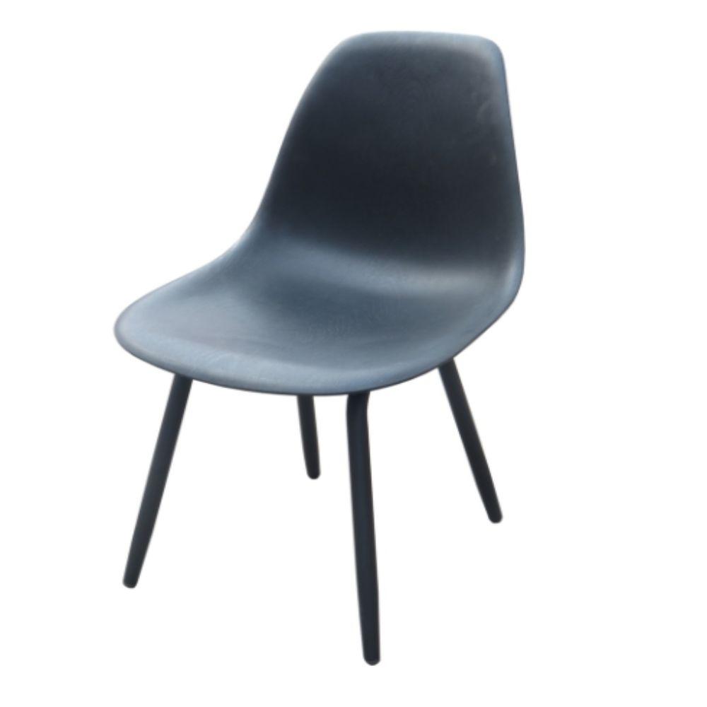 Chaise de jardin Aluminium/ Résine Moss - Noir