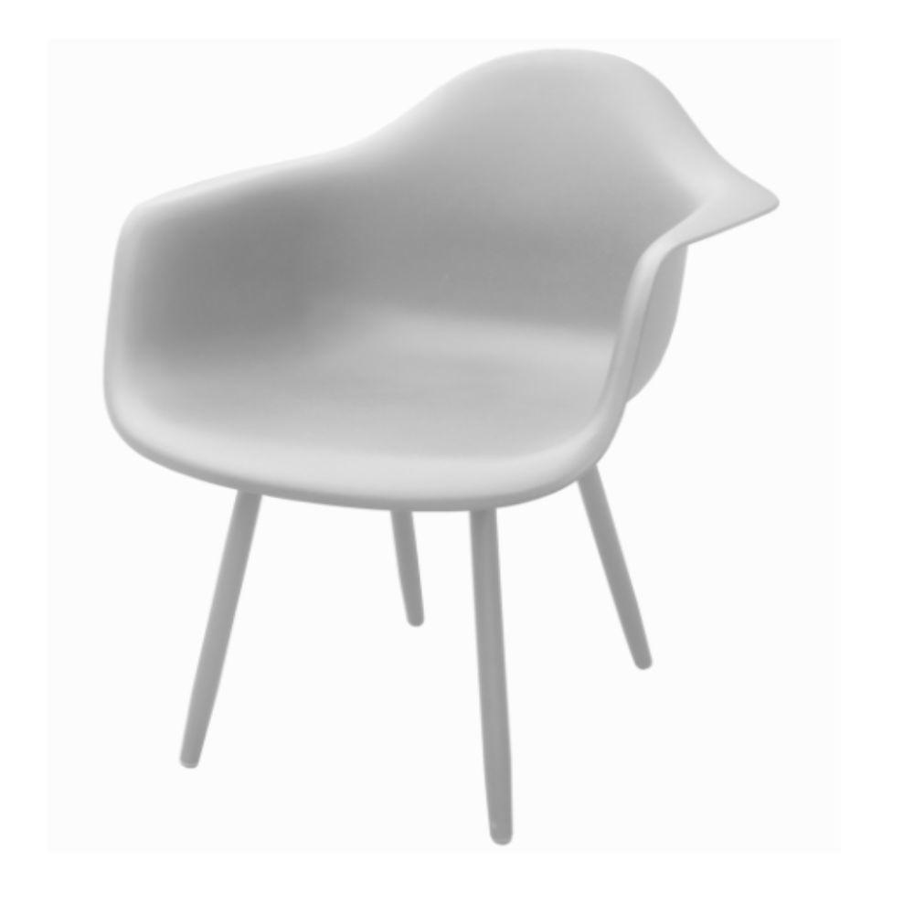 Fauteuil de jardin Aluminium/ Résine Moss - Blanc