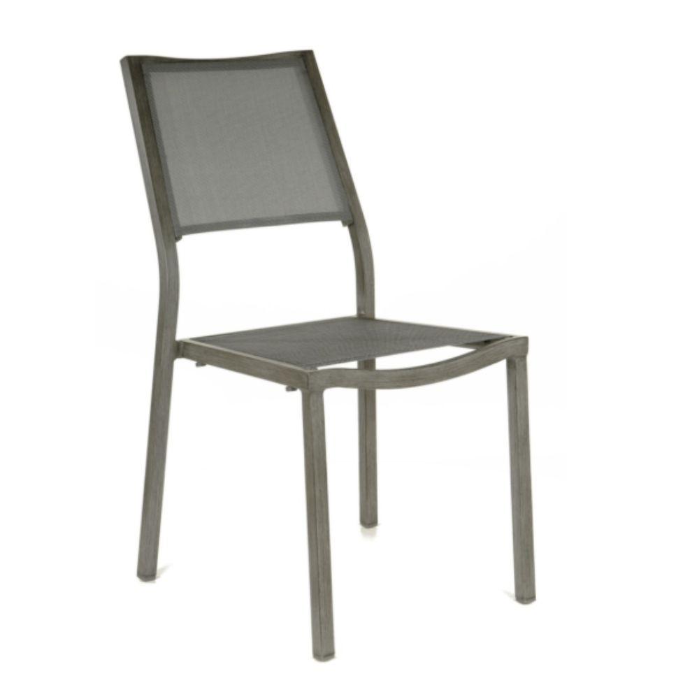 Chaise de jardin Florence aluminium/textilène - Gris
