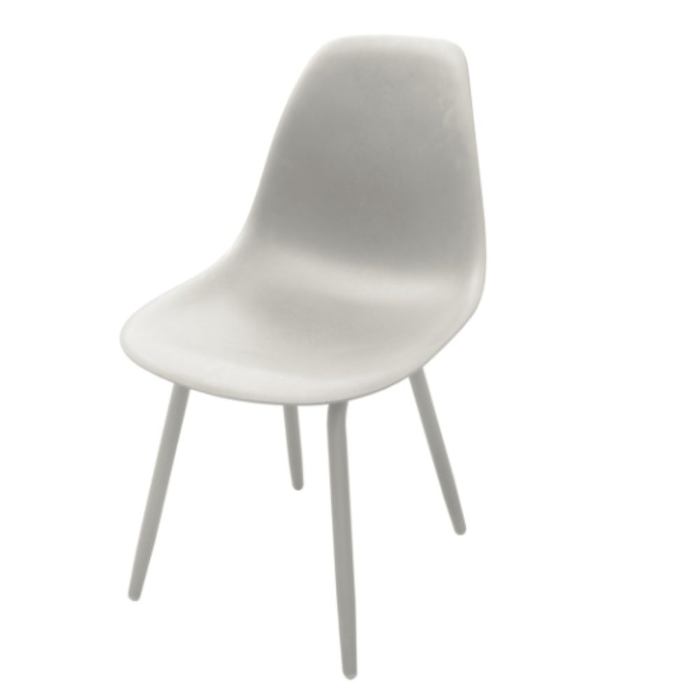 Chaise de jardin Aluminium/ Résine Moss - Blanc
