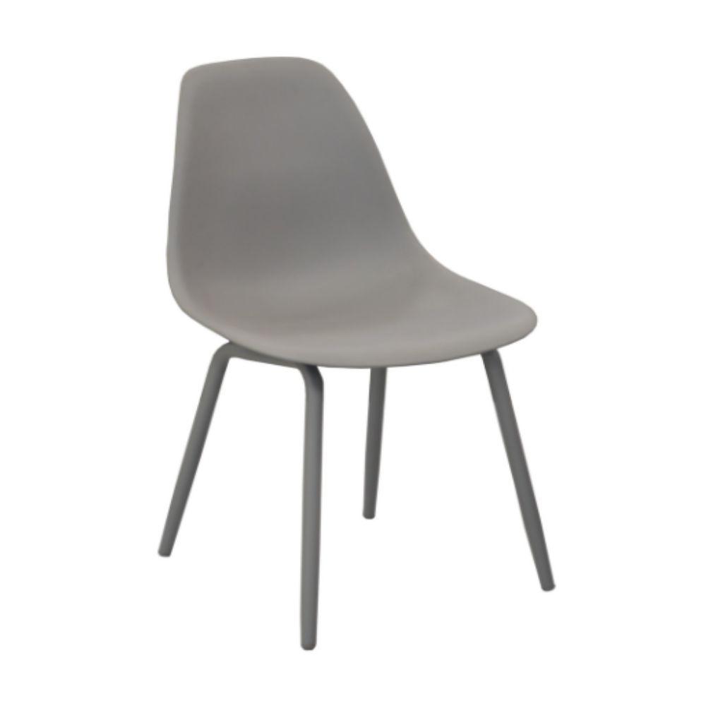 Chaise de jardin Aluminium/ Résine Moss - Gris