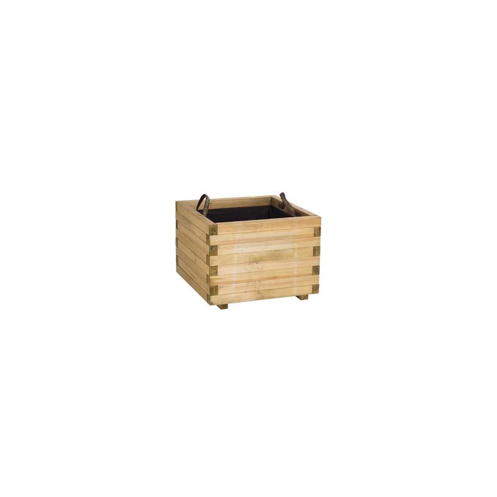 Bac à fleur en bois traité autoclave Forest Style L60 x l60 x H43 cm