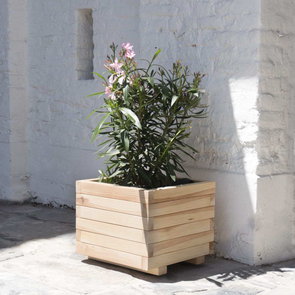 Bac à fleur Bois Forest Style L50 x l50 x H38 cm