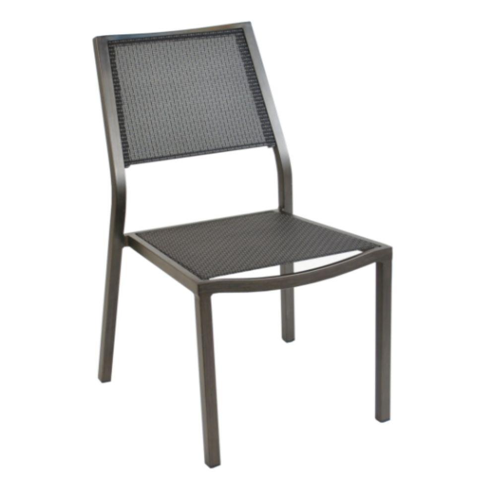 Chaise de jardin Florence aluminium/textilène - Brun