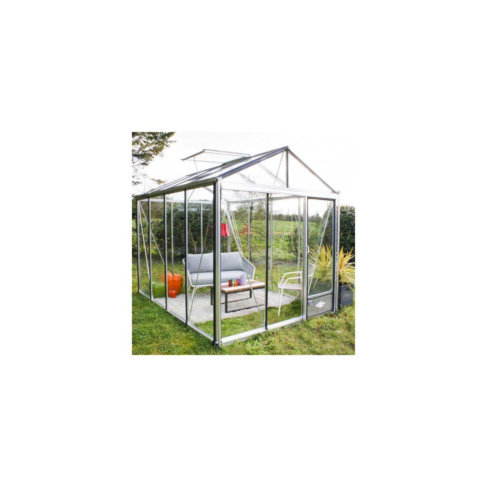 Serre en verre trempé Luxia alu 7,30 m² - Lams