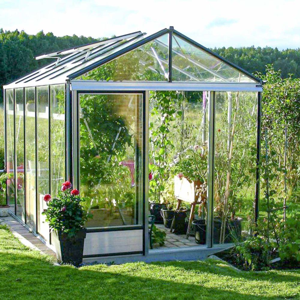 Serre en verre trempé Luxia alu 9 m² - Lams