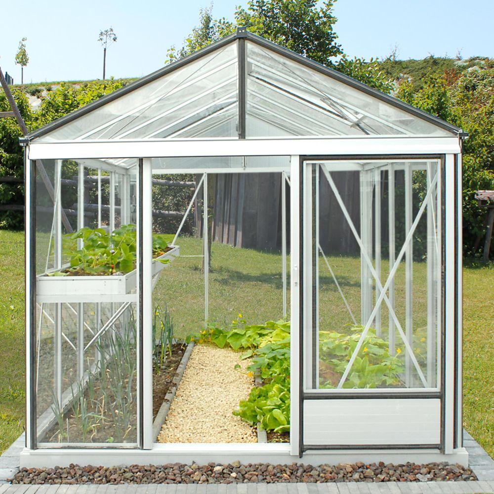 Serre en verre trempé Luxia alu 10,80 m² - Lams