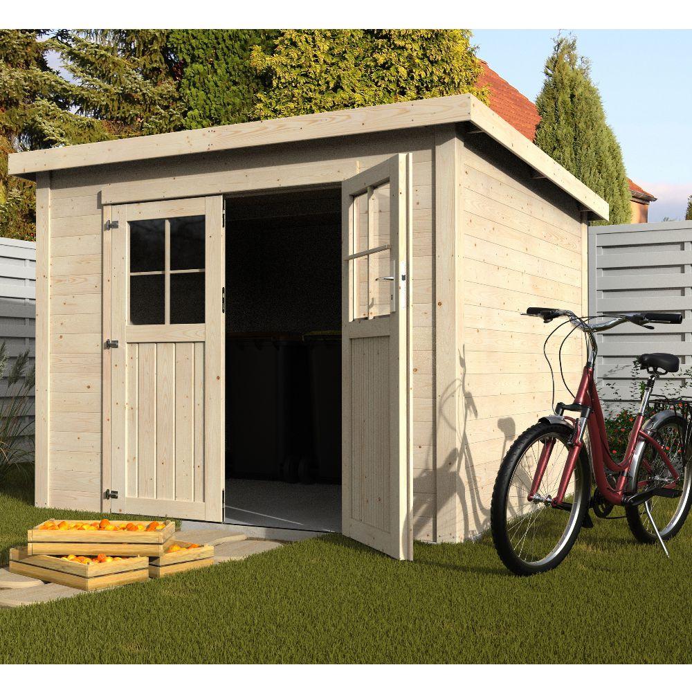 Abri de jardin bois toit plat Talion 5 m² Ep.19 mm