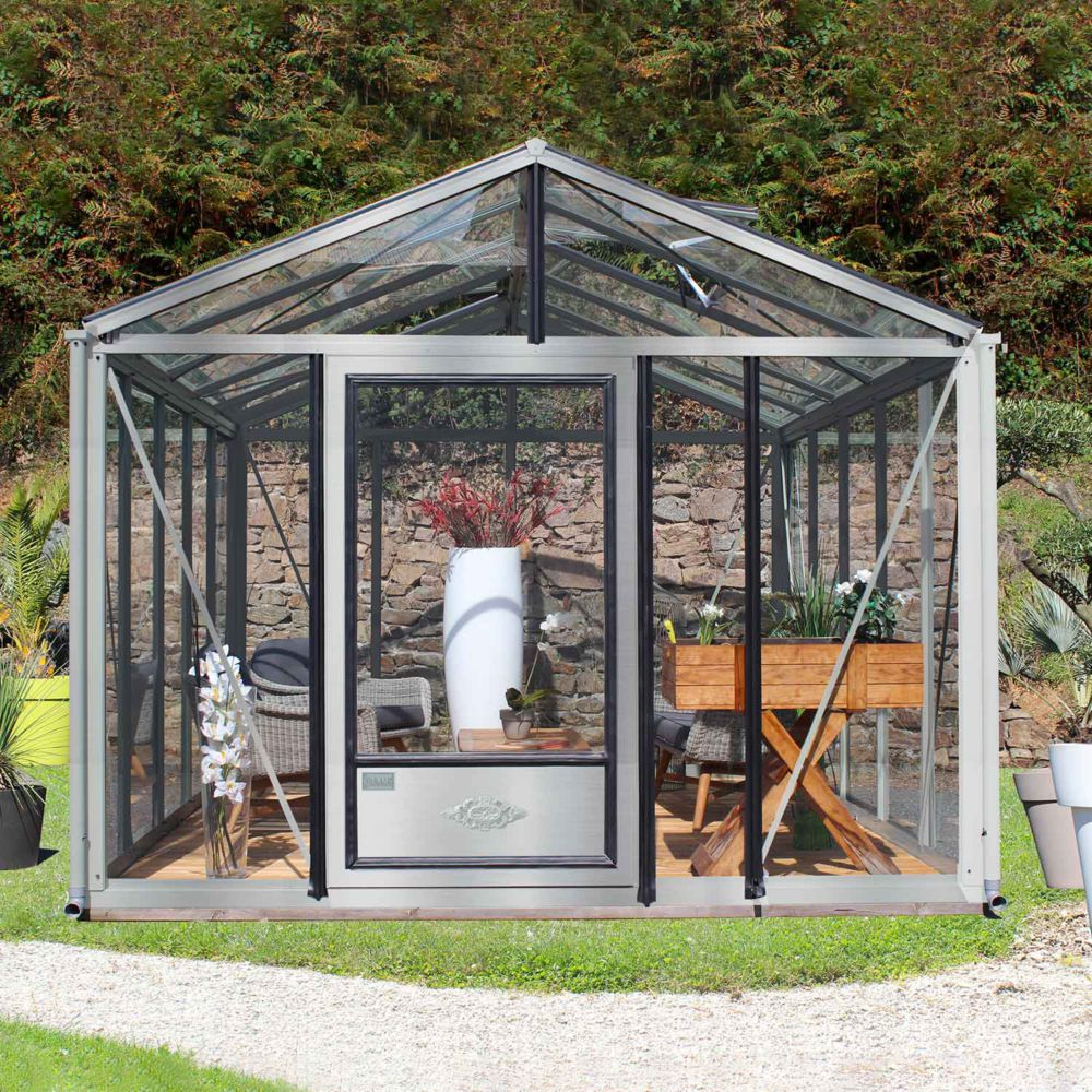 Serre en verre trempé Supra alu 16,70 m² - Lams