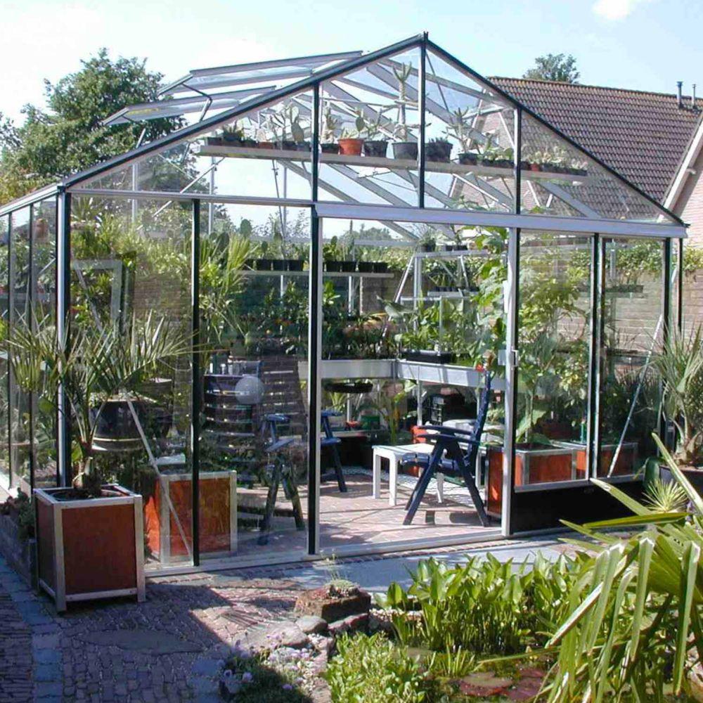 Serre de jardin - Serre en verre trempé Supra alu 23 m² - Lams - Serre de jardin GammVert