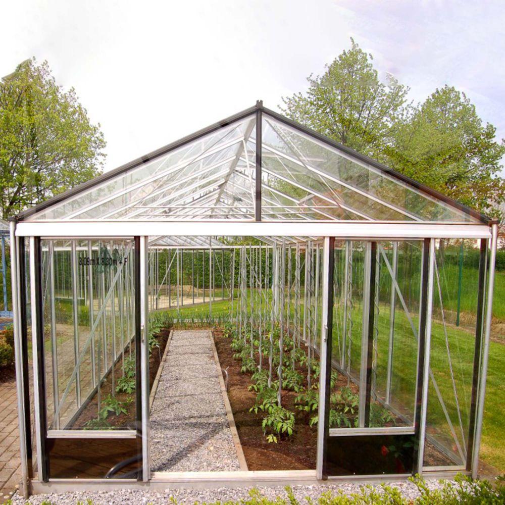 Serre en verre trempé Supra alu 28,60 m² - Lams