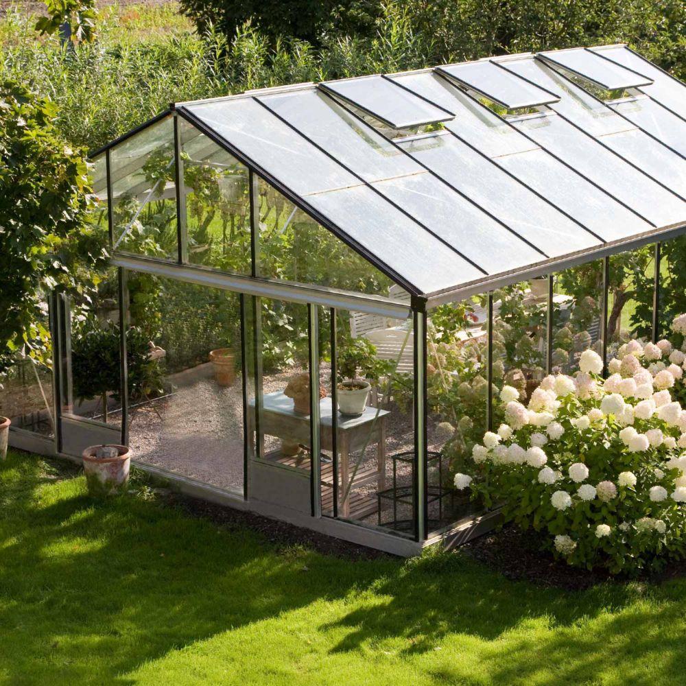 Serre en verre trempé Supra alu 24,40 m² - Lams