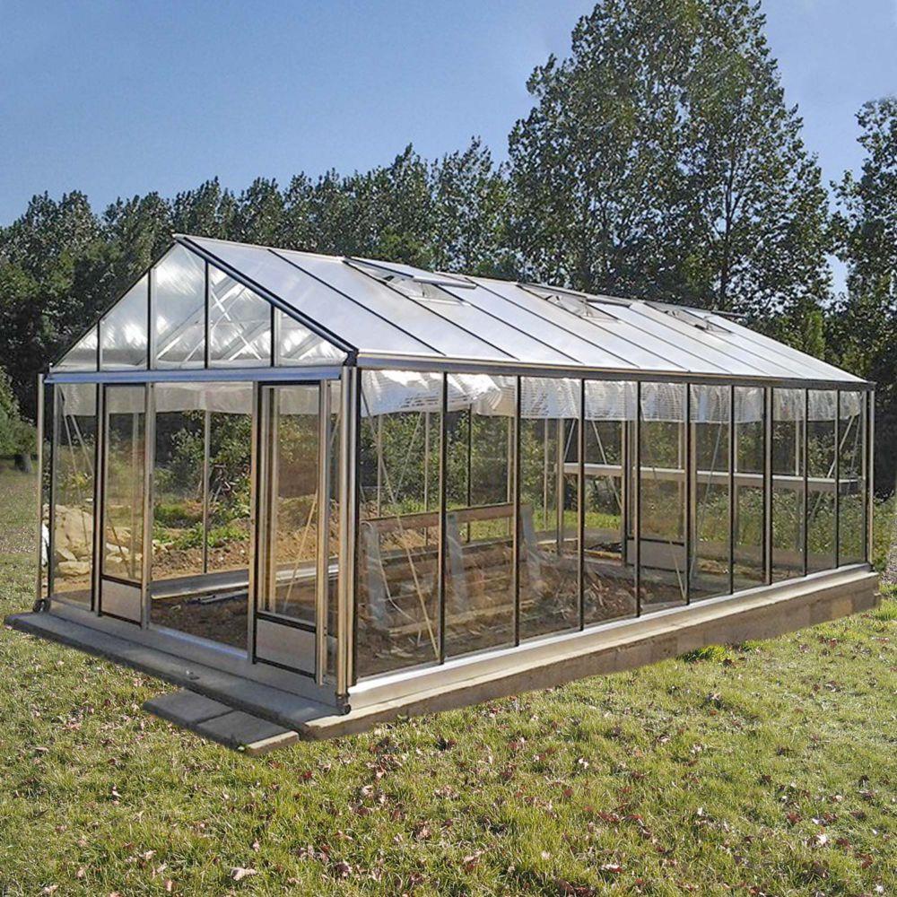 Serre de jardin - Serre en verre trempé Supra alu 34,70 m² - Lams - Serre de jardin GammVert