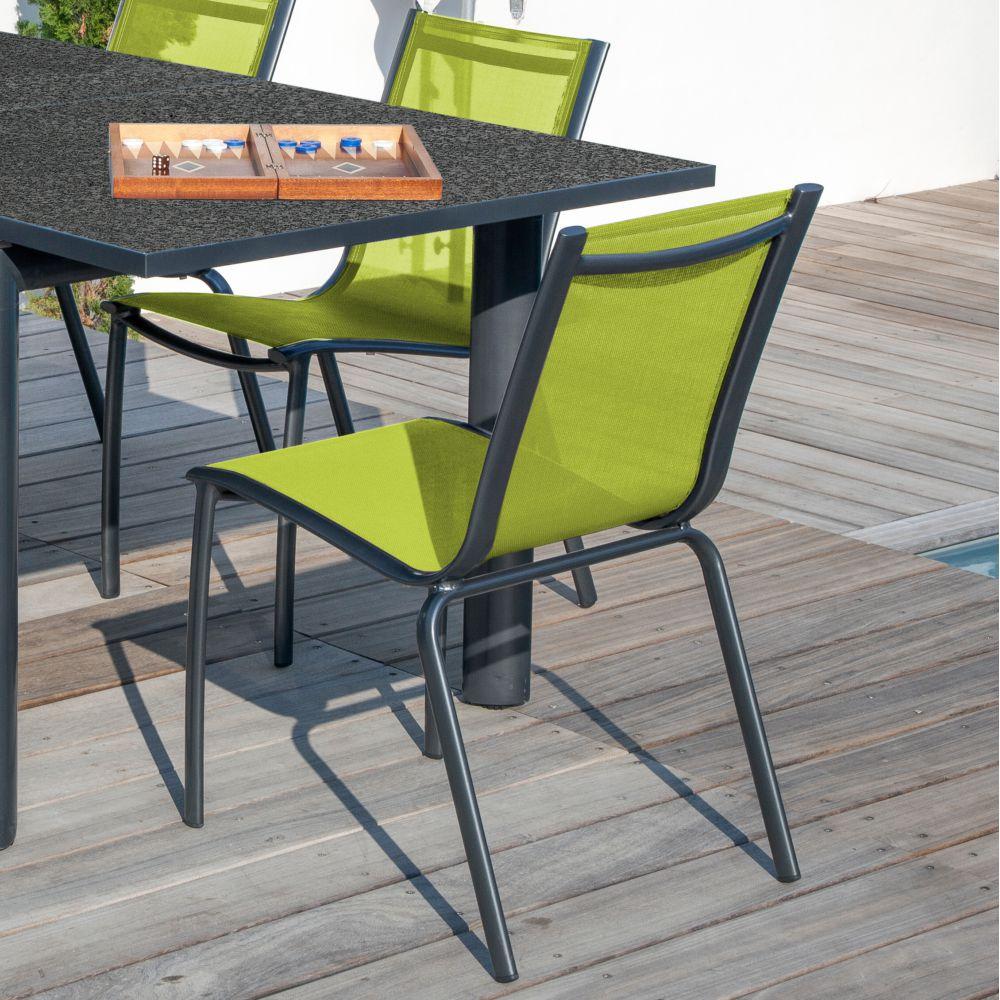 Chaise de jardin Aluminium/textilène Linéa -  Fuschia
