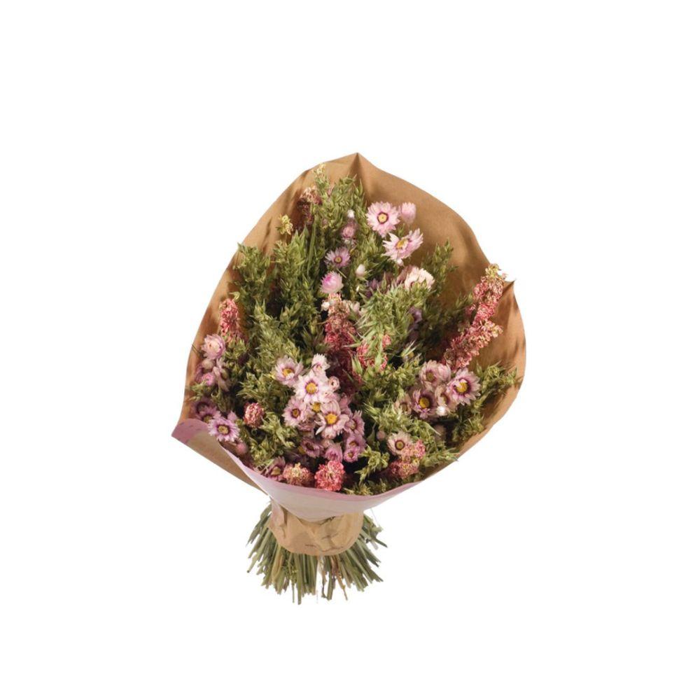 Bouquet séché rose/vert