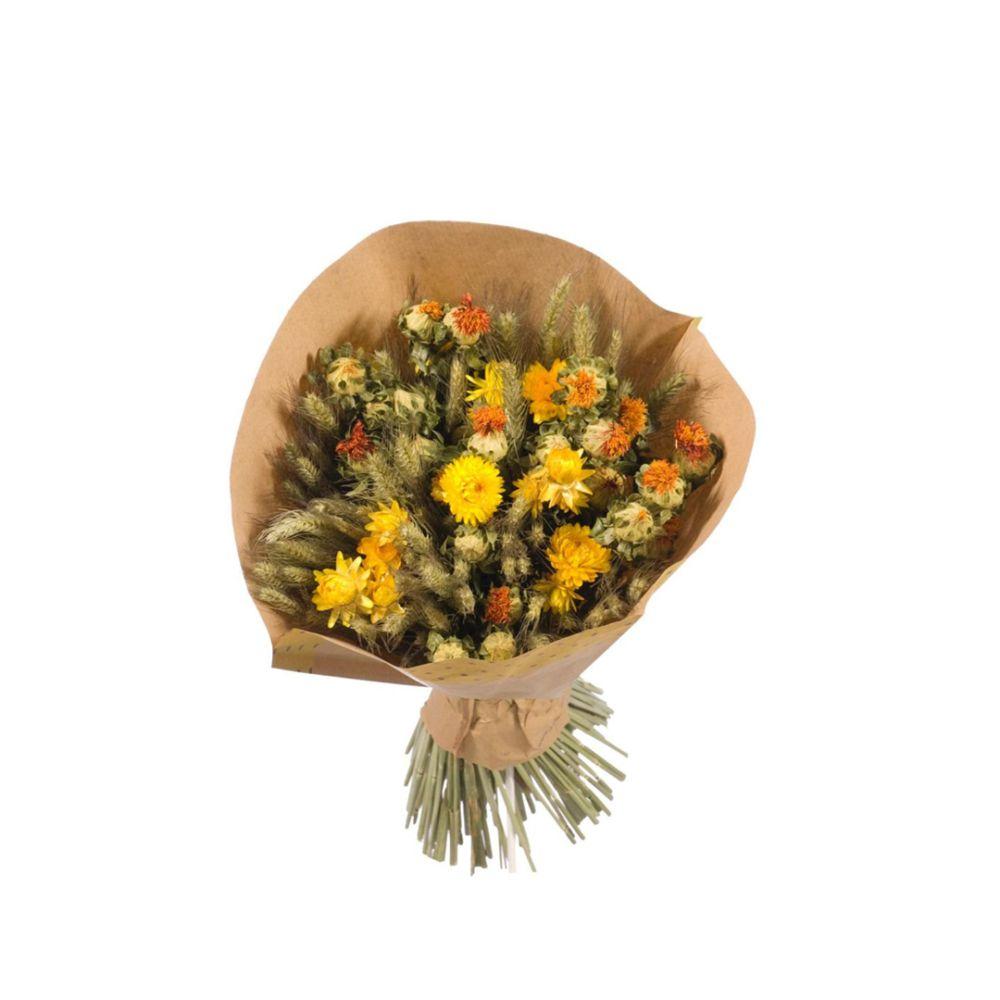 Bouquet séché jaune/orange