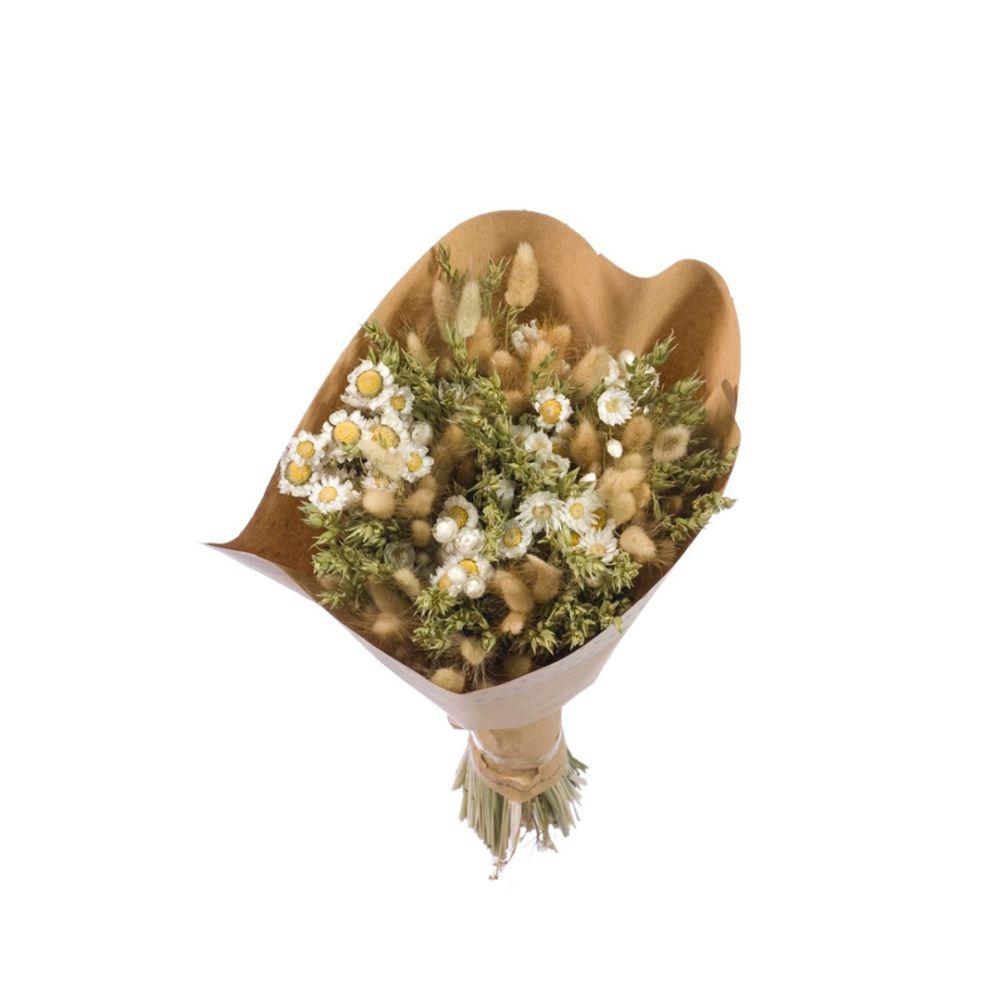 Bouquet séché blanc/vert