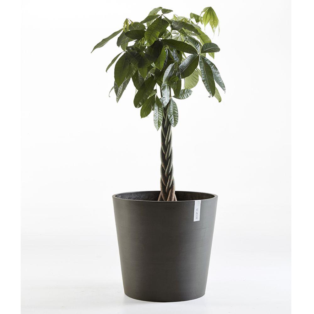 Pot de fleurs extérieur en plastique Anthracite 60 cm