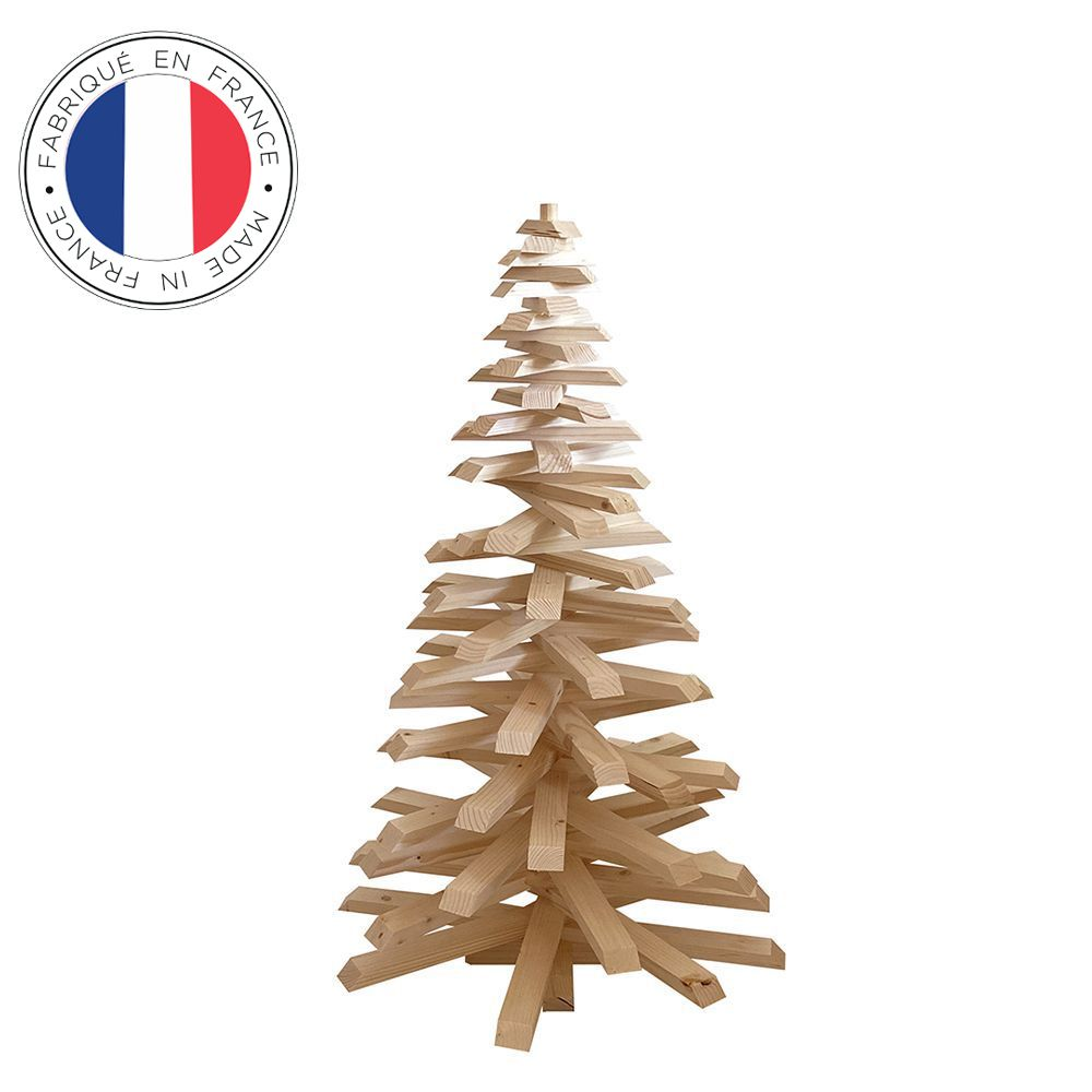 Sapin de Noël en bois 100 cm
