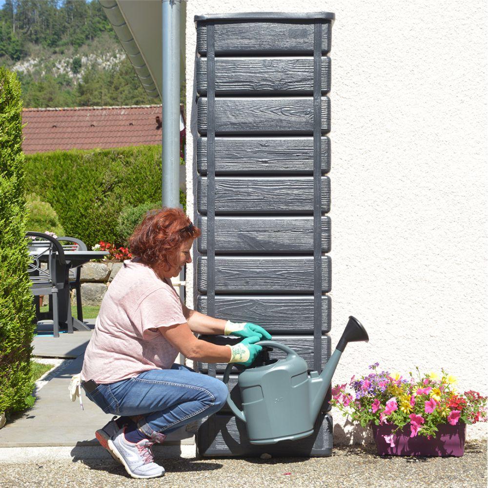 Récupérateur d'eau Woody bois anthracite 300 L - BelliJardin