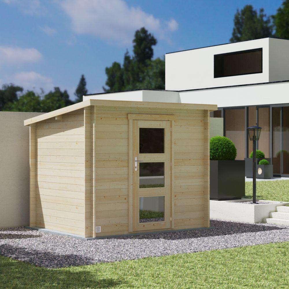 Abri de jardin en bois toit plat 4,9 m² Landes Ep. 19 mm