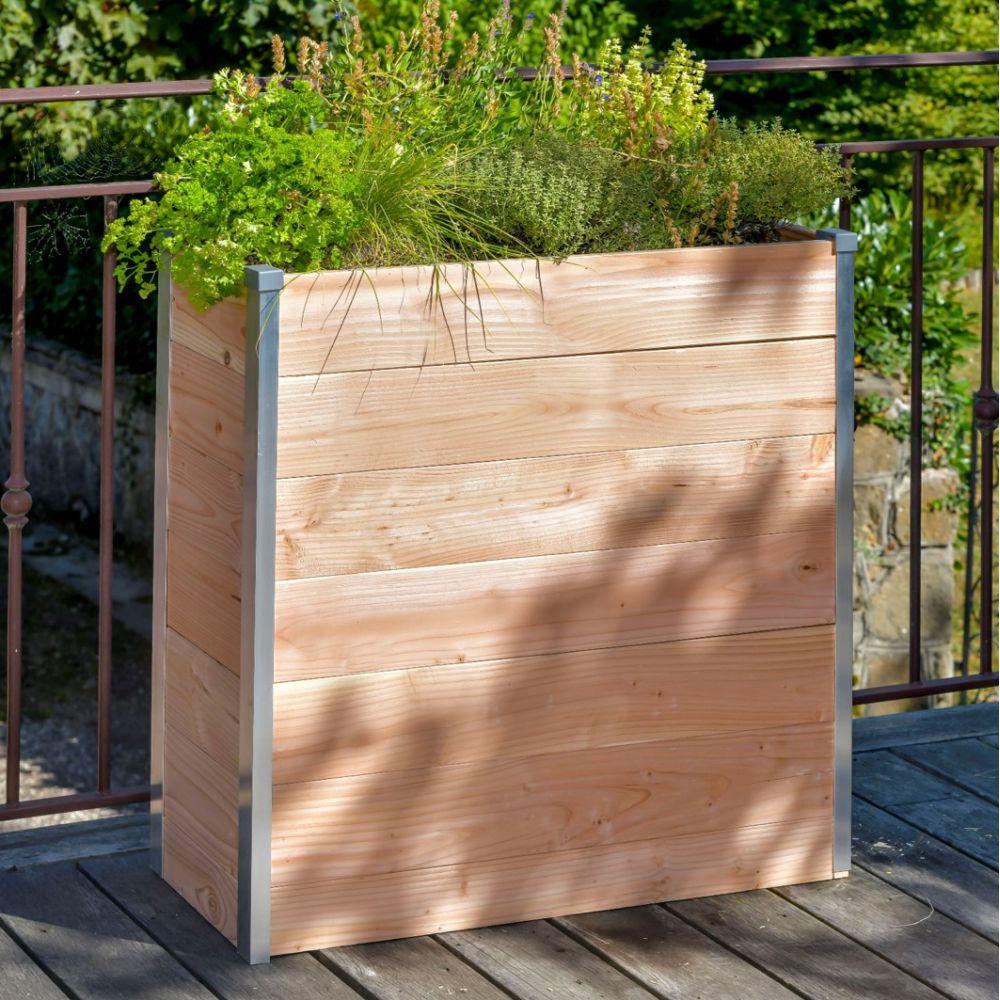 Jardinière Muret en bois Douglas rectangulaire Mon petit potager